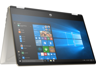 Pavilion x360 14-dw0060TU/ i3-1005G1-1.2G/ 4G/ 256G SSD/ 14FHD+Touch+Pen/ FP/ Gold/ W10+Office - 195M8PA