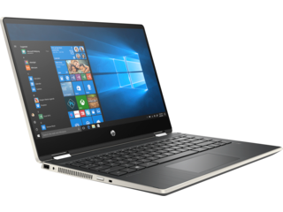 Pavilion x360 14-dw0063TU/ i7-1065G7-1.3G/ 8G/ 512G SSD/ 14FHD+Touch+Pen/ FP/ Gold/ W10+Office - 19D54PA