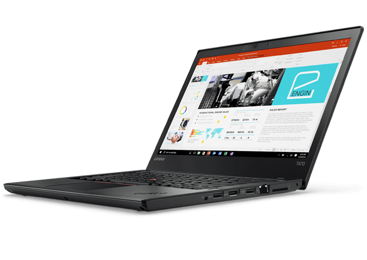 "Lenovo ThinkPad T470/ i5-7200U-2.5G/ 4G/ 500G/ 14"" HD/ FP/ No OS/ Black - 20HEA004VA"