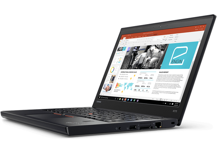"Lenovo ThinkPad X270/ i5-7200U-2.5G/ 4G/ 500G/ 12.5"" HD/ FP/ No OS/ Black - 20HM000HVA"